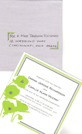 Styles to match YOUR event.  These envelopes were addressed with a design to match the invitation...