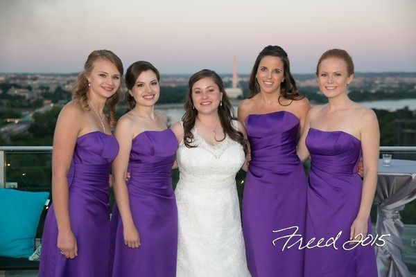 Tmx 1435680023175 Freed Bride Attendants Deck Arlington, VA wedding venue