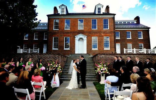 Halcyon House in Washington DC - outdoor wedding ceremony