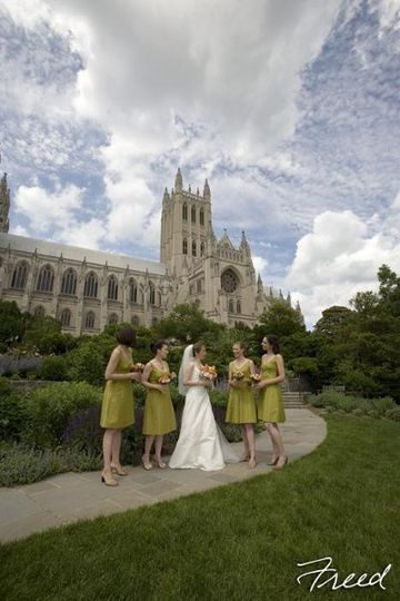 National Cathedral, Washington DC - Bride and bridesmaids