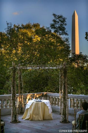 DAR, Washington DC - outdoor Jewish wedding ceremony