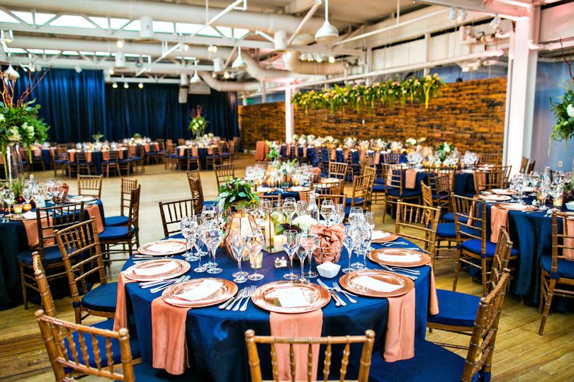 AVAM, Baltimore - Navy and Copper table setting