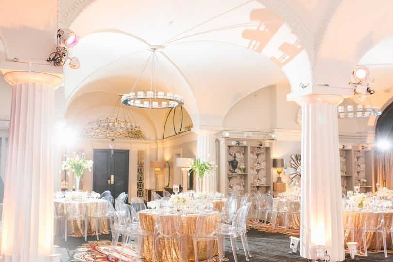 Hotel Monaco, Washington DC - glam gold wedding reception