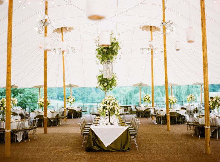 A private estate wedding in Virginia with a Sperry Tent for the reception