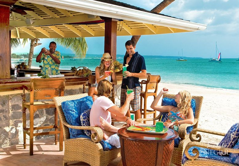 Beach bar at sandals negril