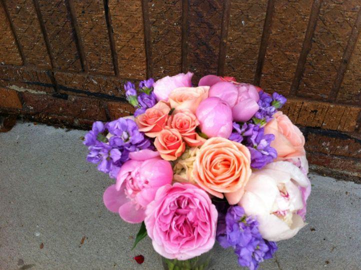 Purple and blush