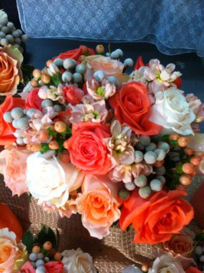 Warm colored floral decor