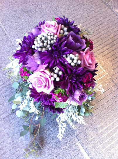 Violet wedding bouquet