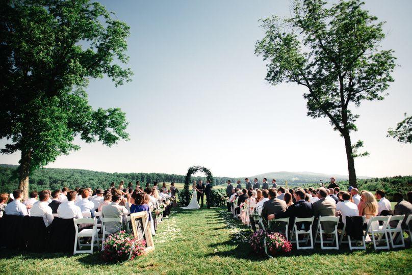 Berry lawn ceremony