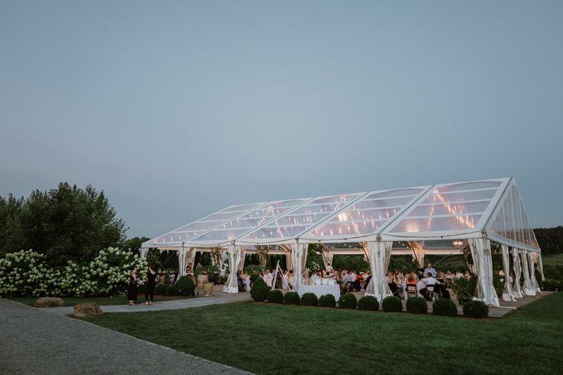Orchard overlook tent