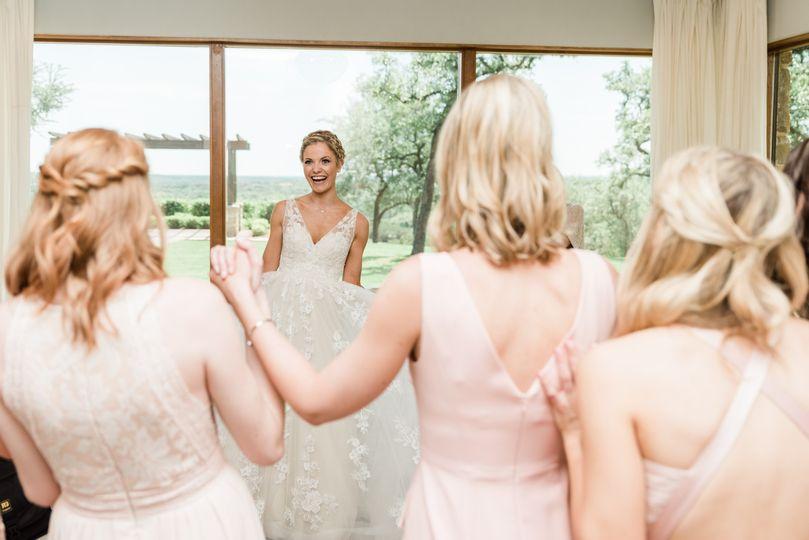 Bridesmaids' first look