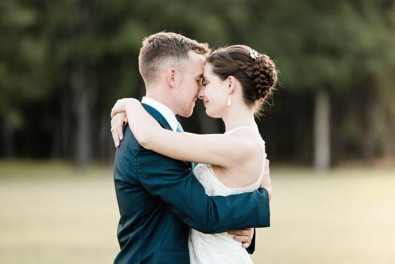 Sunset bride + groom portraits