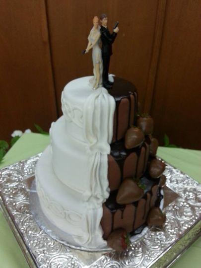 Split personality Cake.