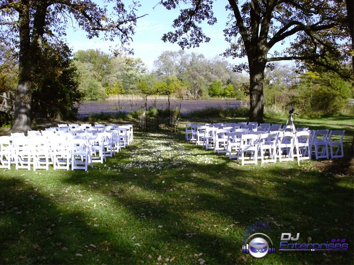 Wedding ceremony at The Shores of Turtle Creek.
