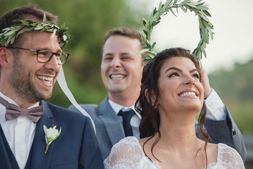 Romantic wedding in Halkidiki