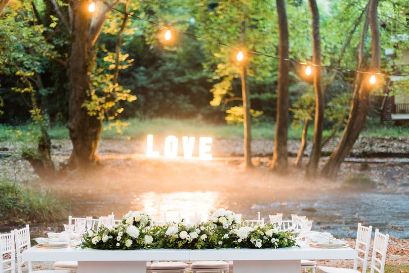 Fairytale setup by the river