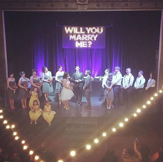 Woodward theatre wedding