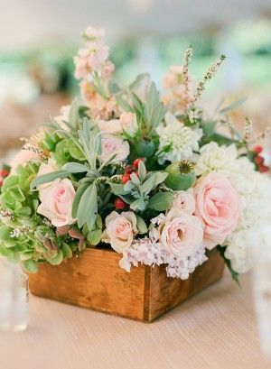 Summer flower centerpiece