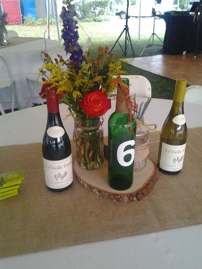centerpiece wine bottle