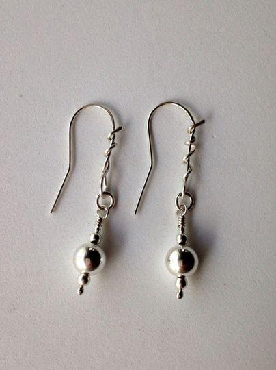 Earrings: solid Sterling Silver  cfbjewelrydesigns.com