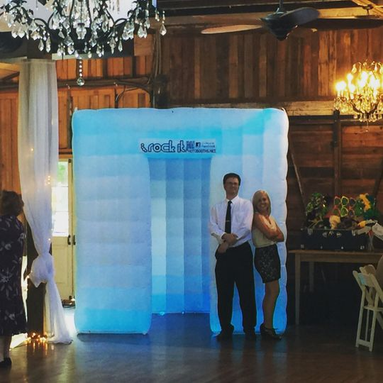 Square inflatable photo booth