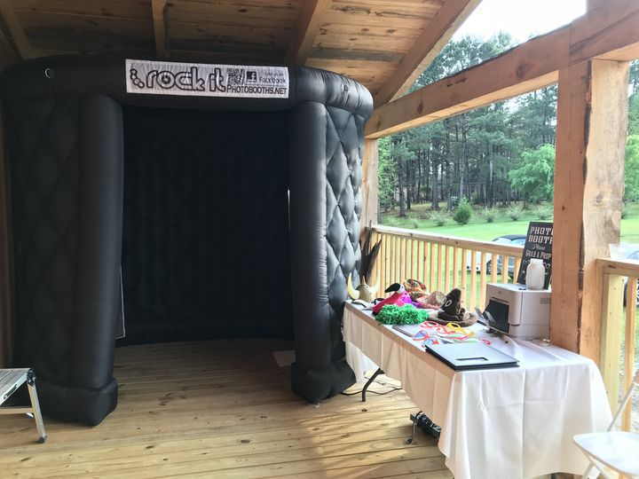 Black inflatable booth