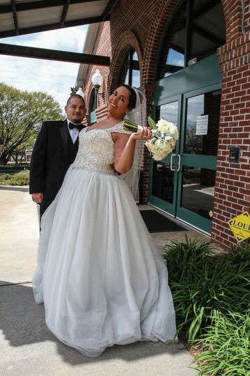 Bride and her groom