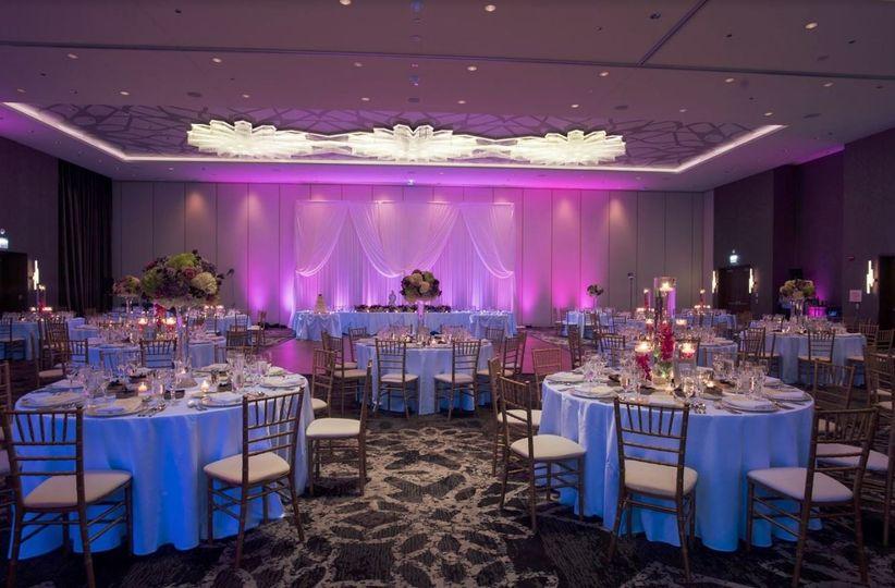 Wedding reception area