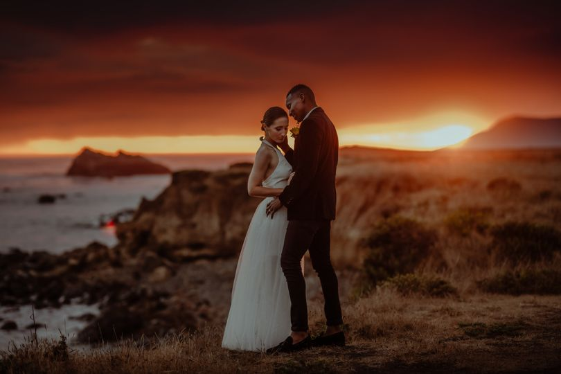 Couple at sunset - James Lester Photography