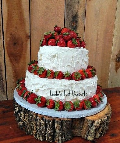 Strawberry and cream cheese icing-groom's cake.