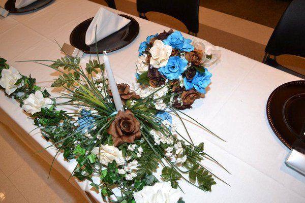 Bridal Party Table at Reception 2011