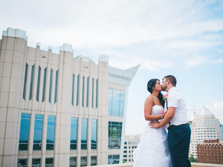 Tmx 1478637409992 Bride And Groom With Skyscrapper Charlotte, NC wedding venue
