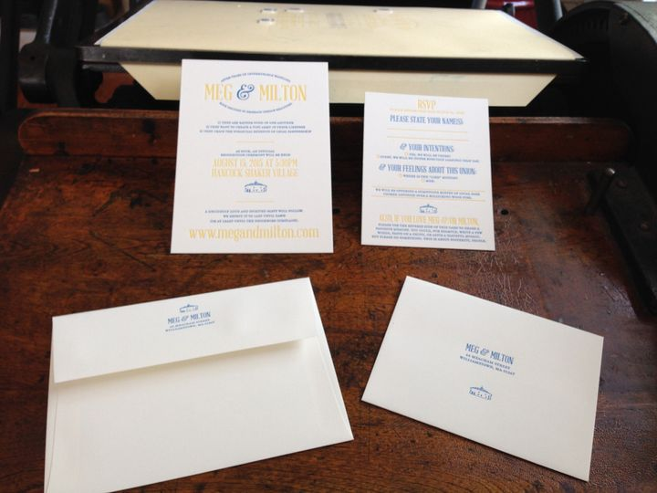 Sunny and light! This invitation was for a great couple that wanted to marry their classic style...