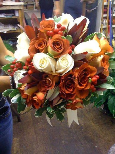 Orange themed bouquet