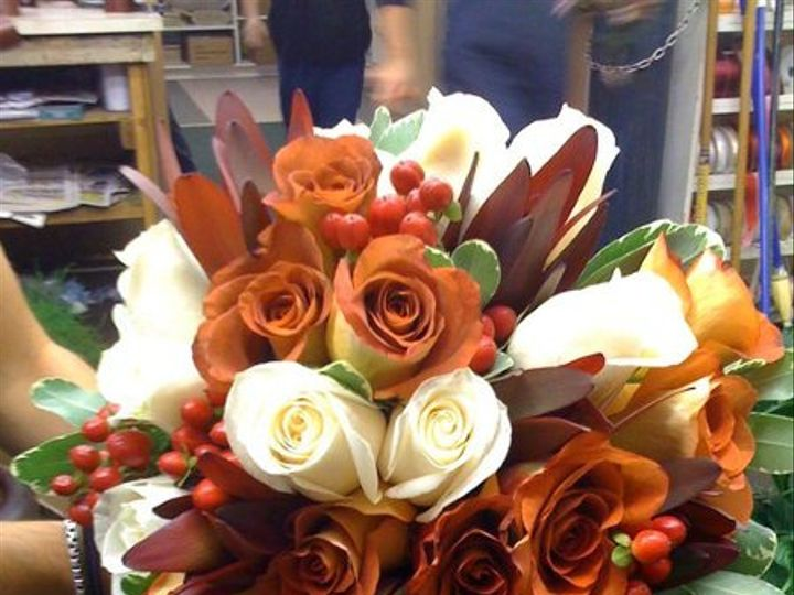 Tmx 1307819291266 Burntorangebouquet New City, New York wedding florist