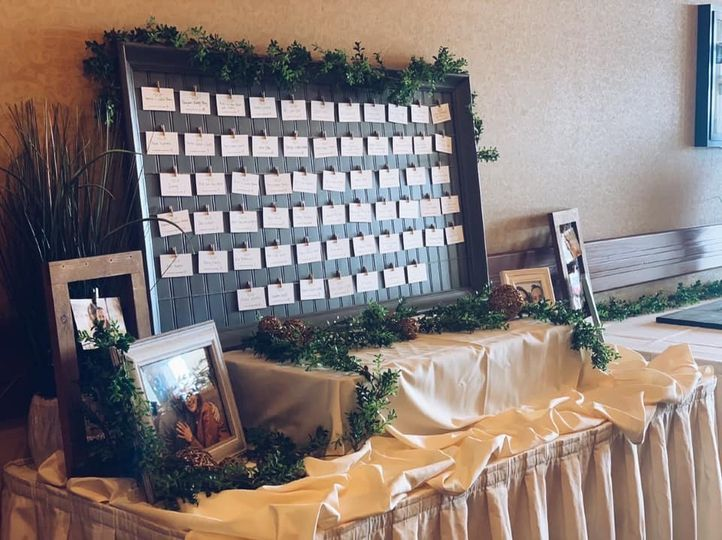 Seating Chart in Entryway