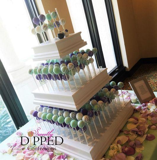 Tiered dessert display