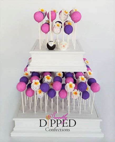 Tropical Tiered Cake Pop Display