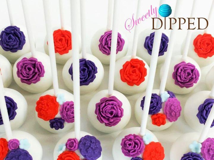 Tmx 1466564186719 Floral Pops Front Logo Tampa, Florida wedding cake