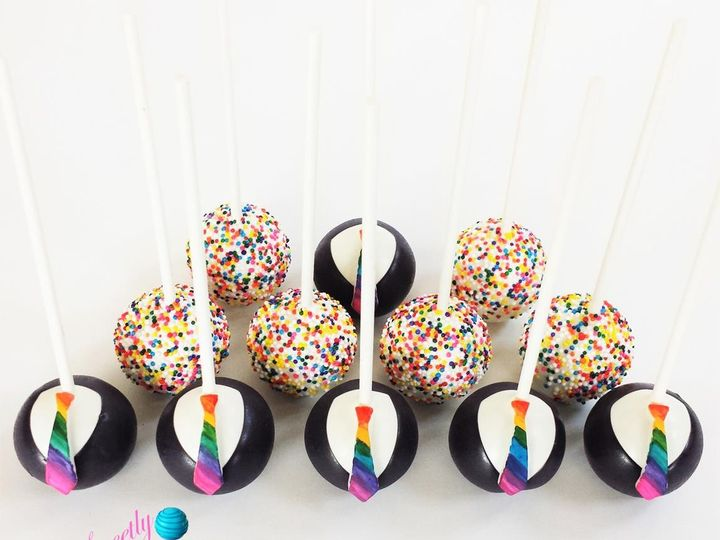 Tmx 1466565831300 Tuxedos   Rainbow Logo Tampa, Florida wedding cake