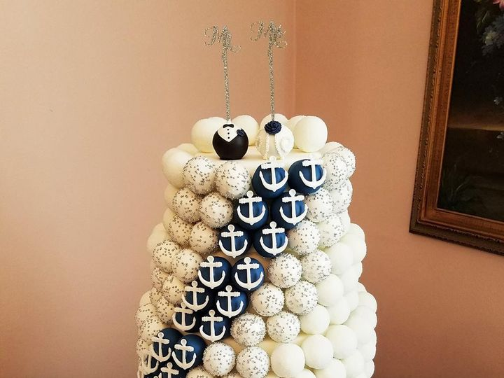 Tmx 1478016848320 Cake Pop Cake   Nautical Logo Tampa, Florida wedding cake