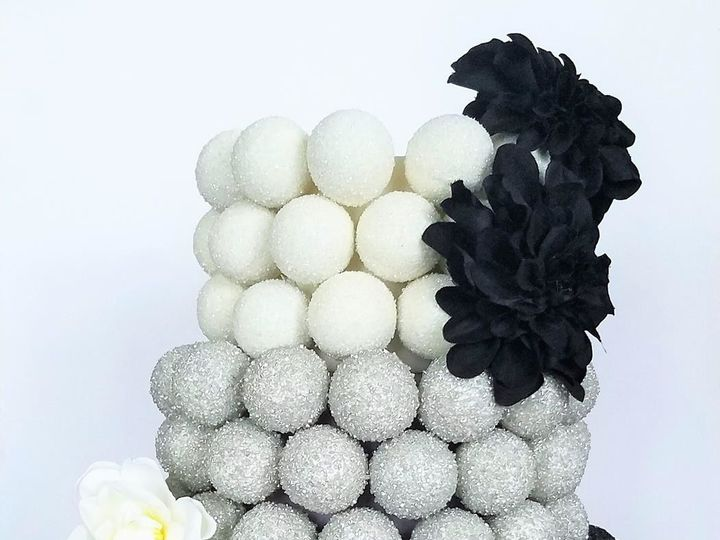 Tmx 1511799613336 Cake Pop Cake   Black Silver  White Logo Tampa, Florida wedding cake