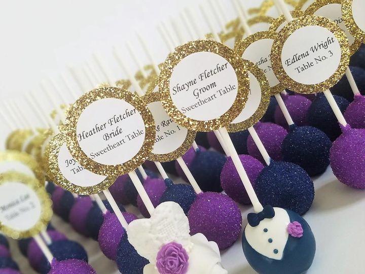 Tmx 1522949137 C74fc6d20dd5bda0 1522949136 2d5b92b811a83b42 1522949132541 3 Escort Card Cake P Tampa, Florida wedding cake