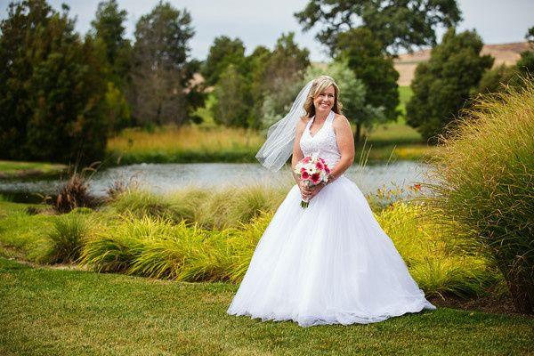 Bride holding her boquet