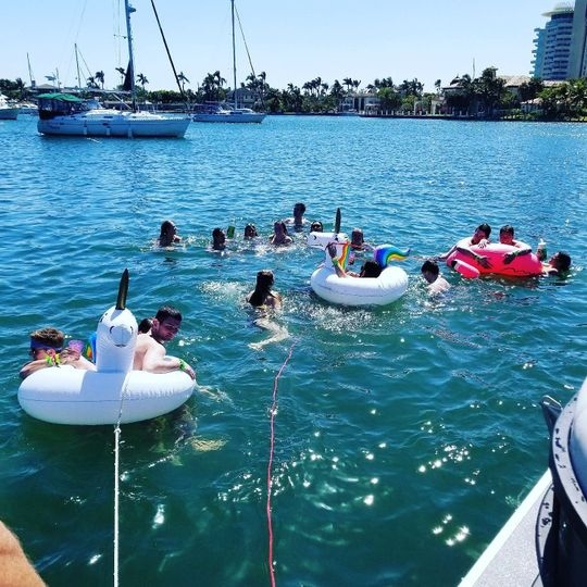 2 Floaties on each boat = party on!