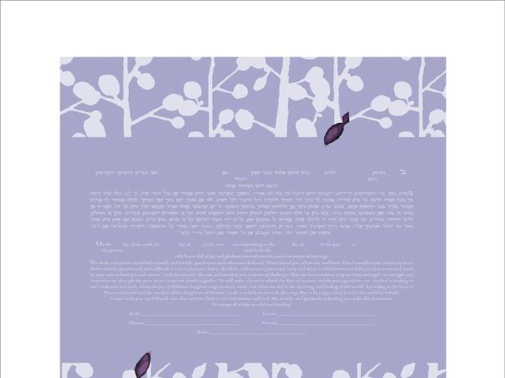 Tmx 1353026420225 Branchesketubahlavender Pasadena wedding invitation