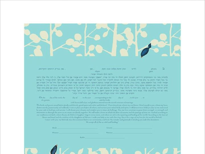 Tmx 1353026428657 Branchesketubahblue Pasadena wedding invitation