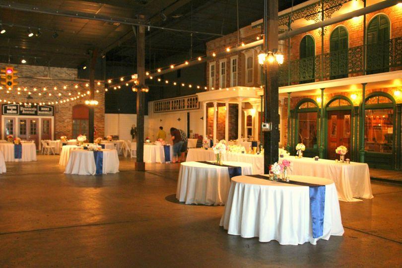 Ambiance of the reception setup