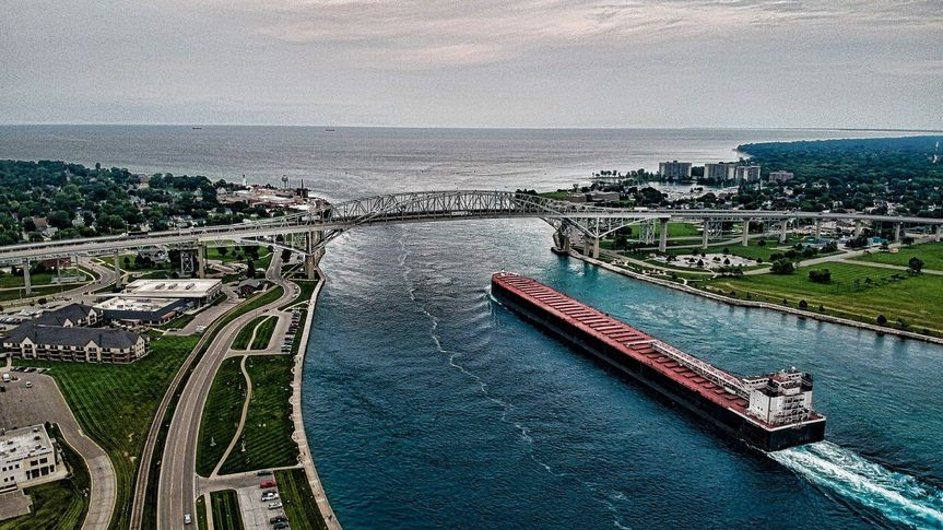 Freighter Aerial View
