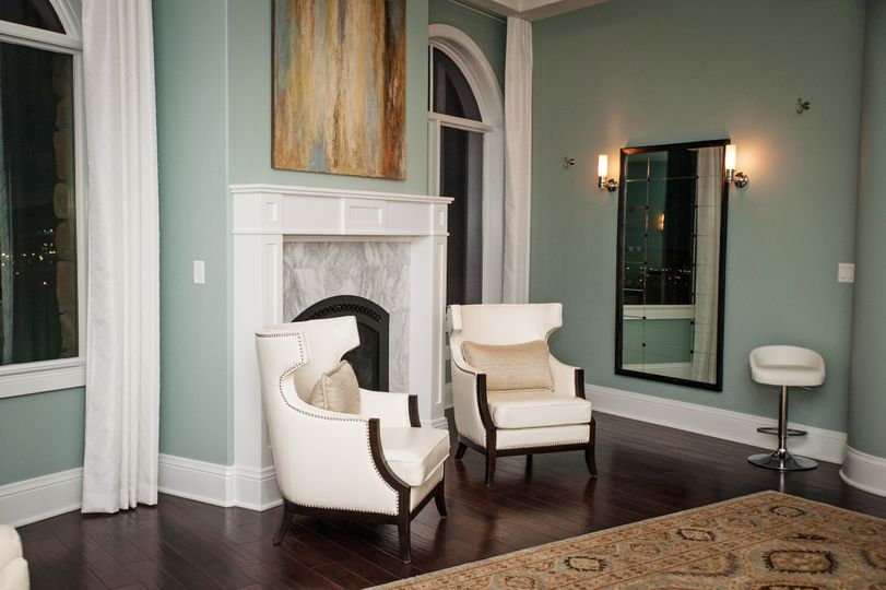 Lounge by the fireplace